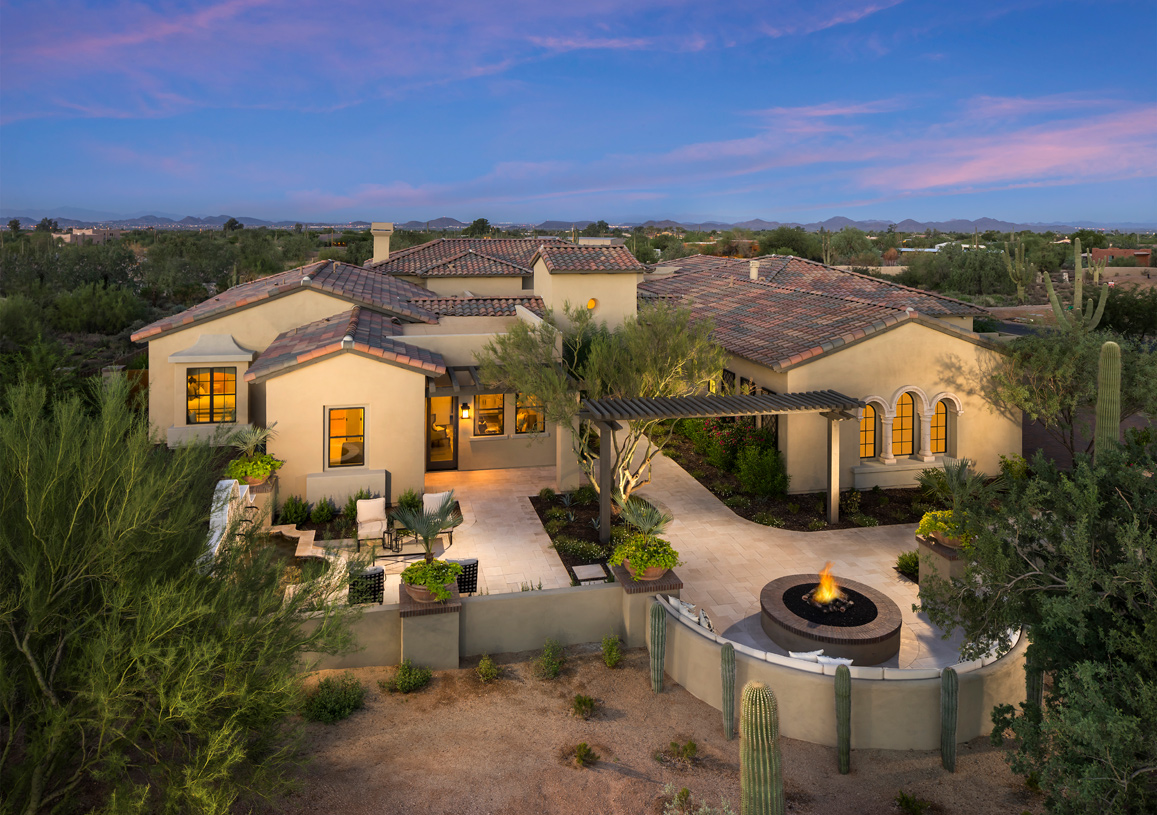 Mission exterior with large courtyard for outdoor entertaining
