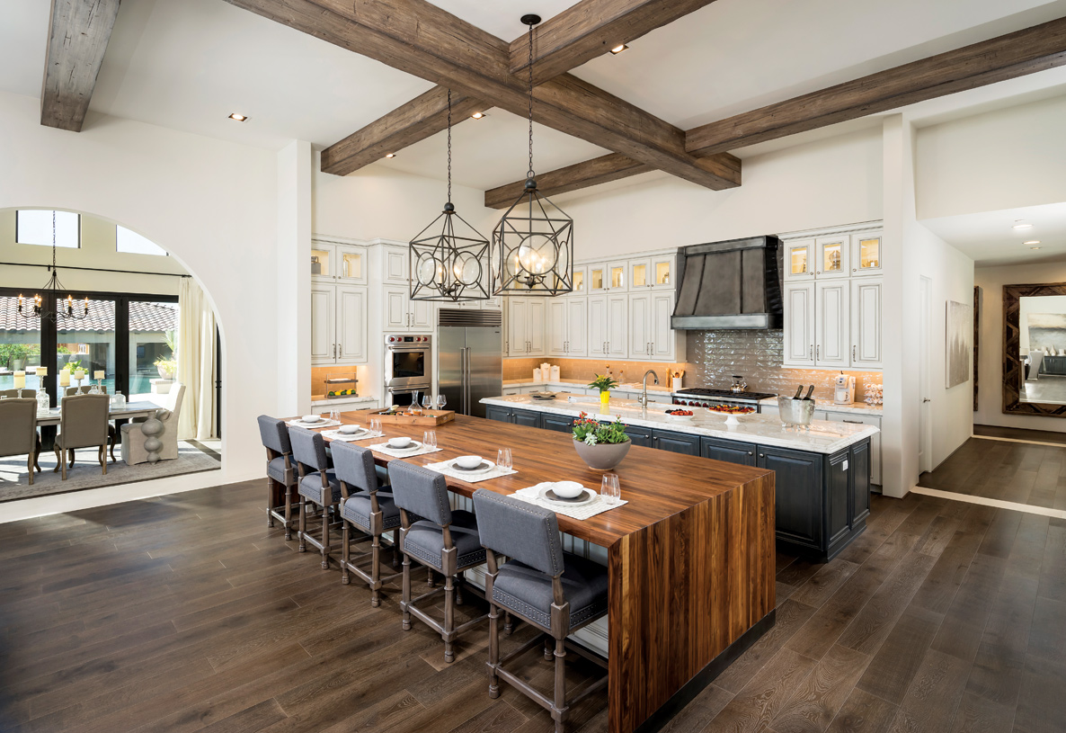 Gourmet kitchen with two islands, perfect for entertaining