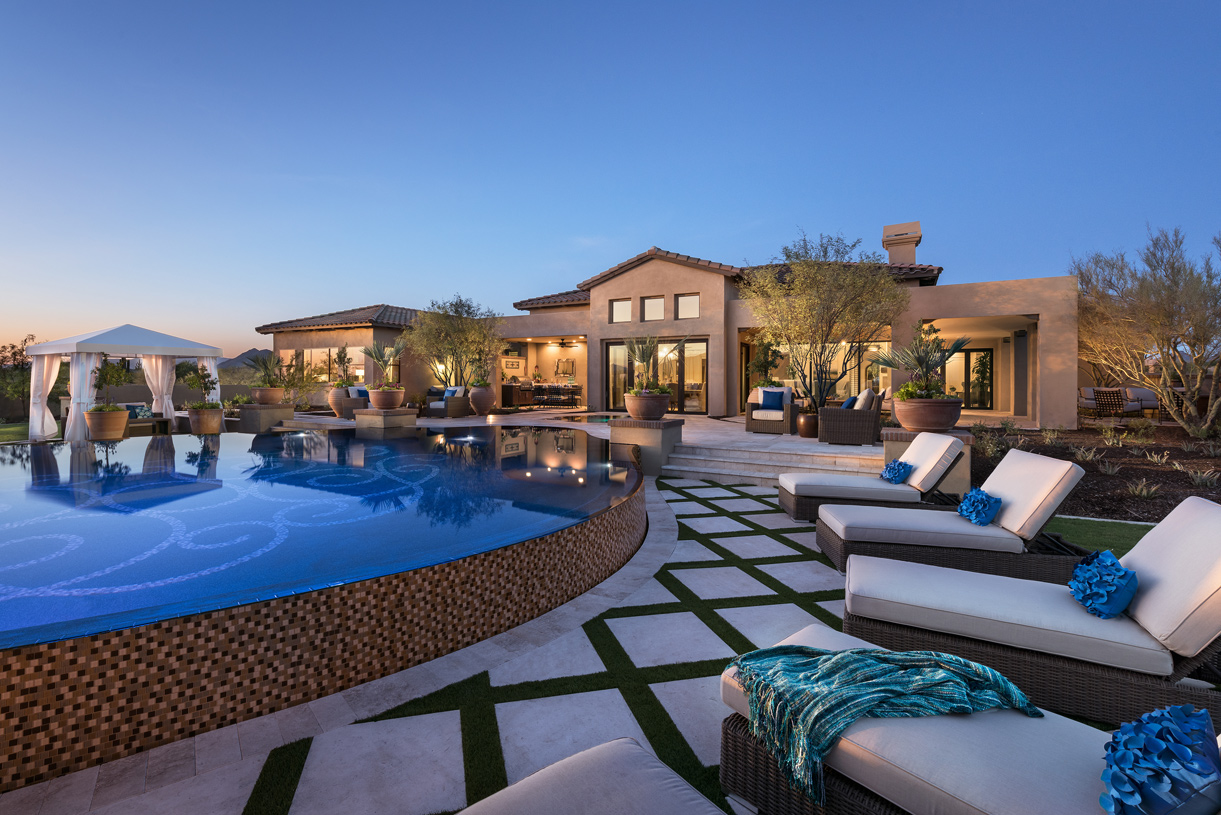 Spacious home site with resort-style backyard