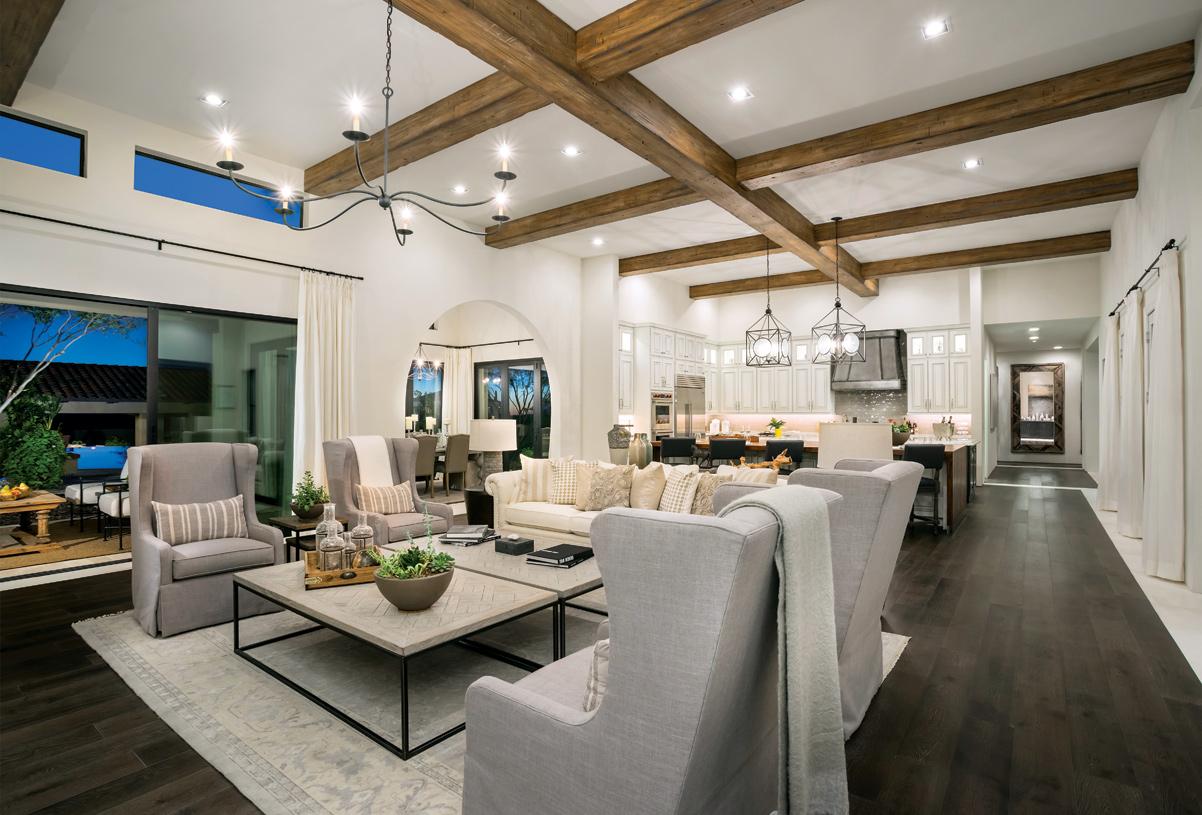 Open concept floor plan features seamless indoor/outdoor living spaces