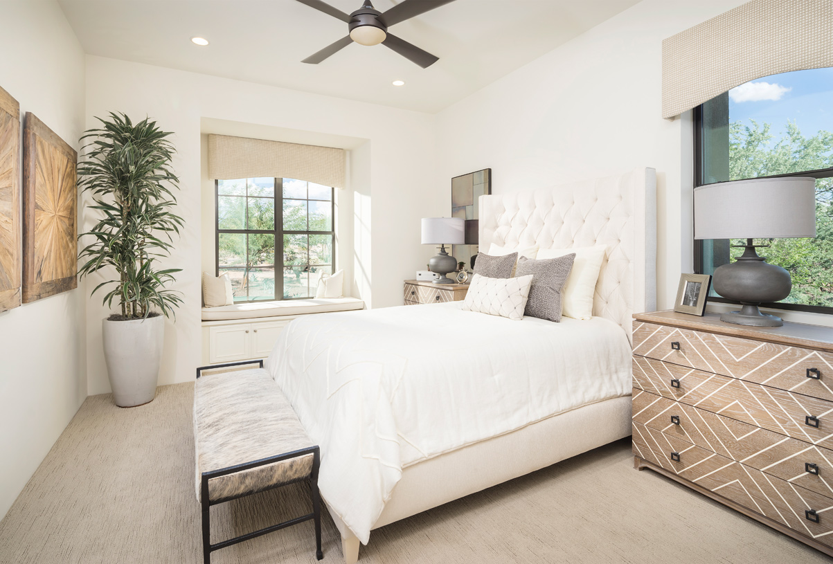 Spacious secondary bedroom with ample natural light
