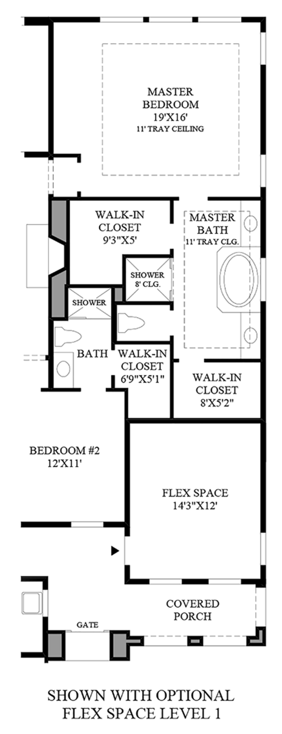 Optional Flex Space on Level 1 Floor Plan