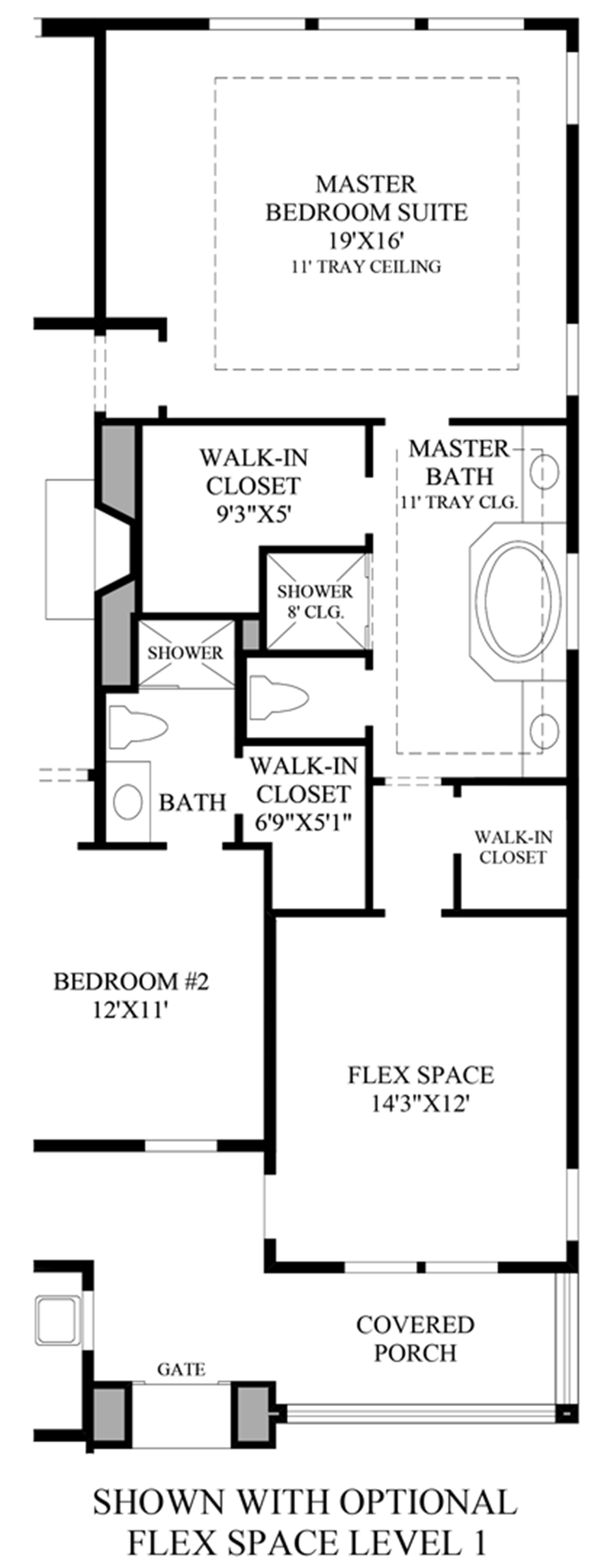 Optional Flex Space Level Floor Plan