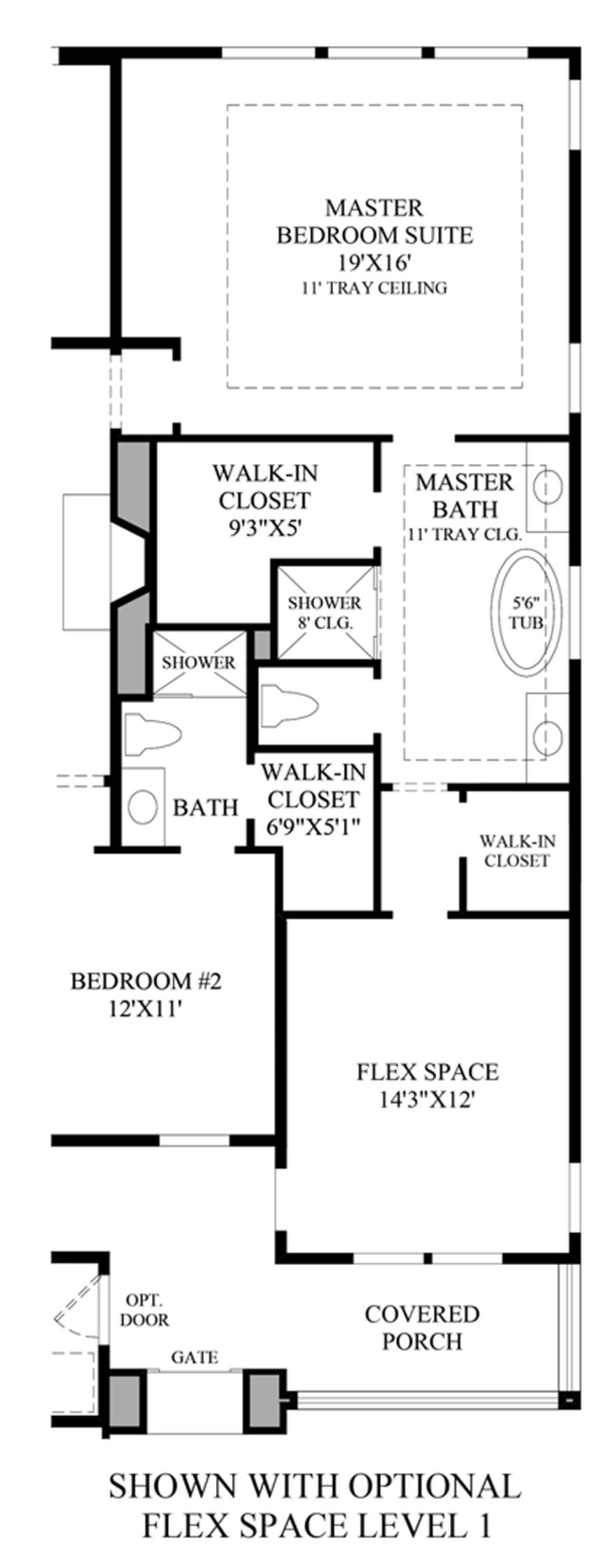 Optional Flex Space Level Floor Plan