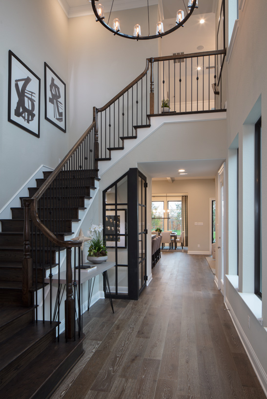 Welcoming two-story foyer with staircase