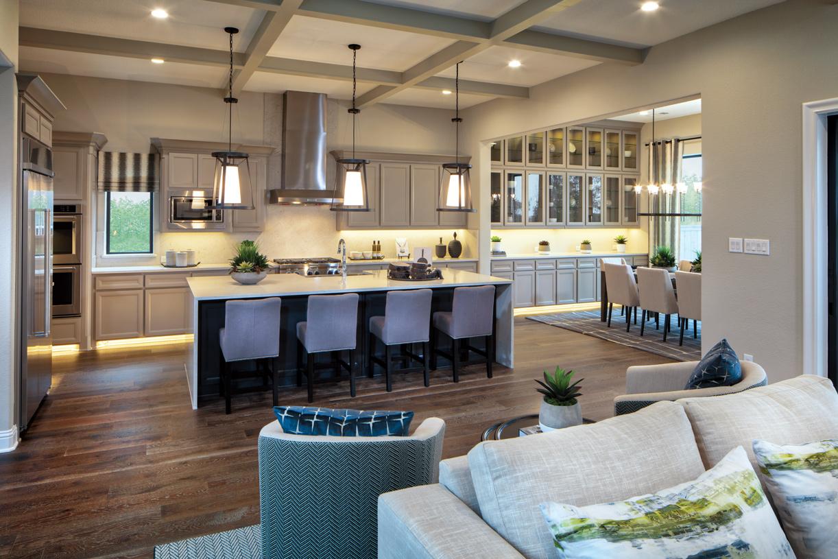 Desirable open floor plan