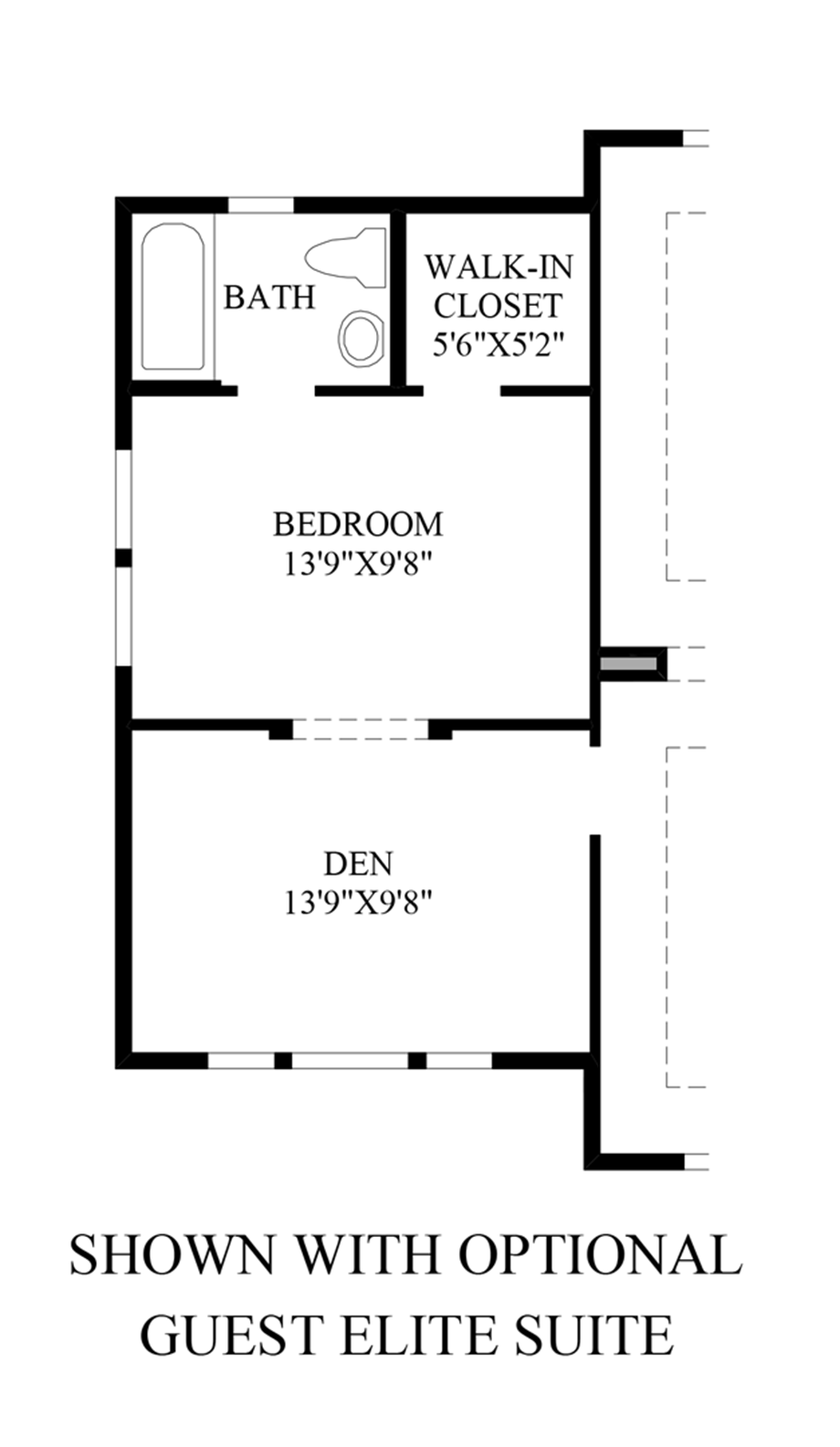 Optional Guest Elite Suite Floor Plan