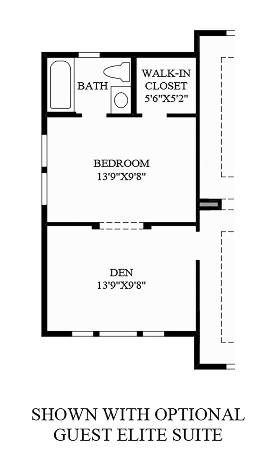 Optional Guest Elite Suite Floor Plan