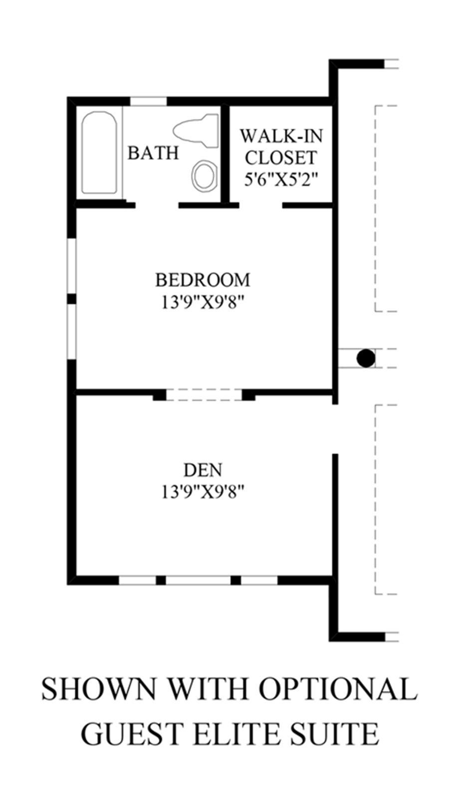 Optional Guest Suite Floor Plan