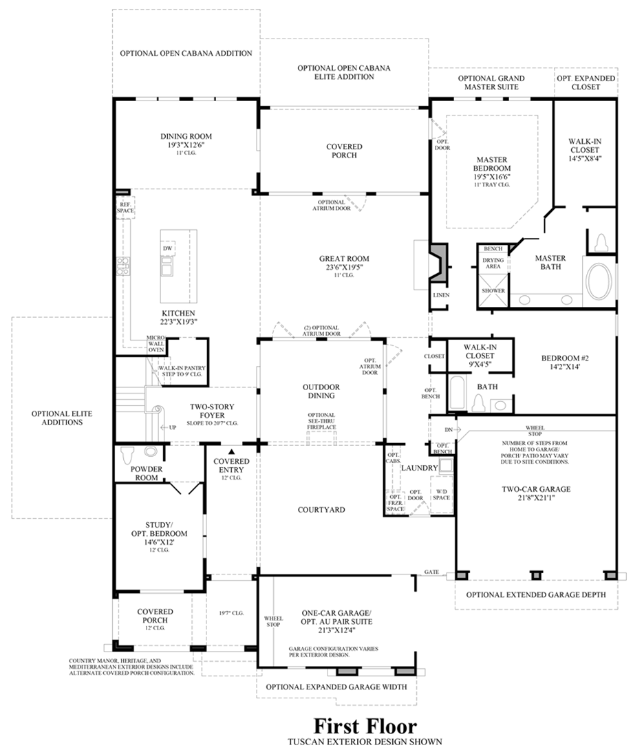 northgrove at spring creek estate collection the vanguard home 1st floor floor plan