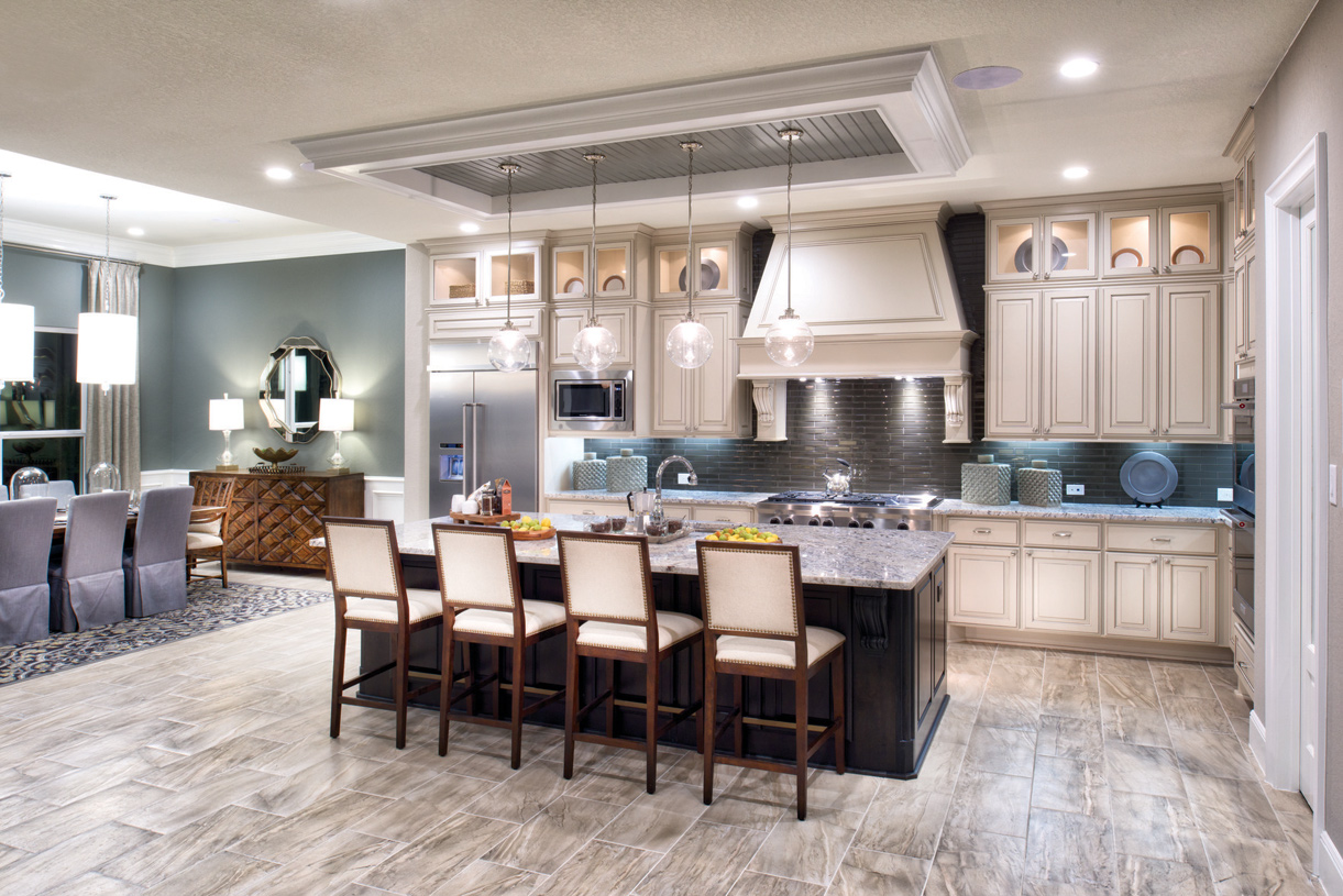 Well-appointed kitchen with a center island and a walk-in pantry
