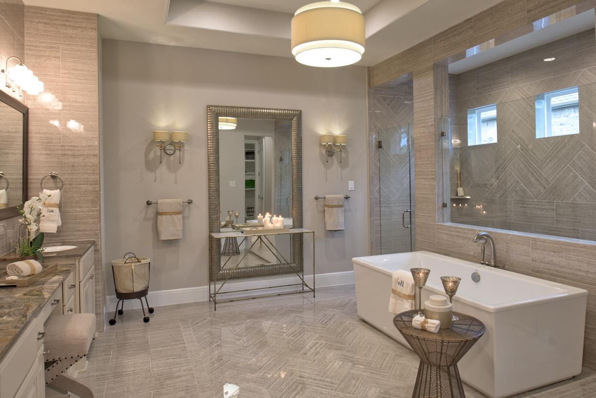 Lavish primary bath with dual vanities