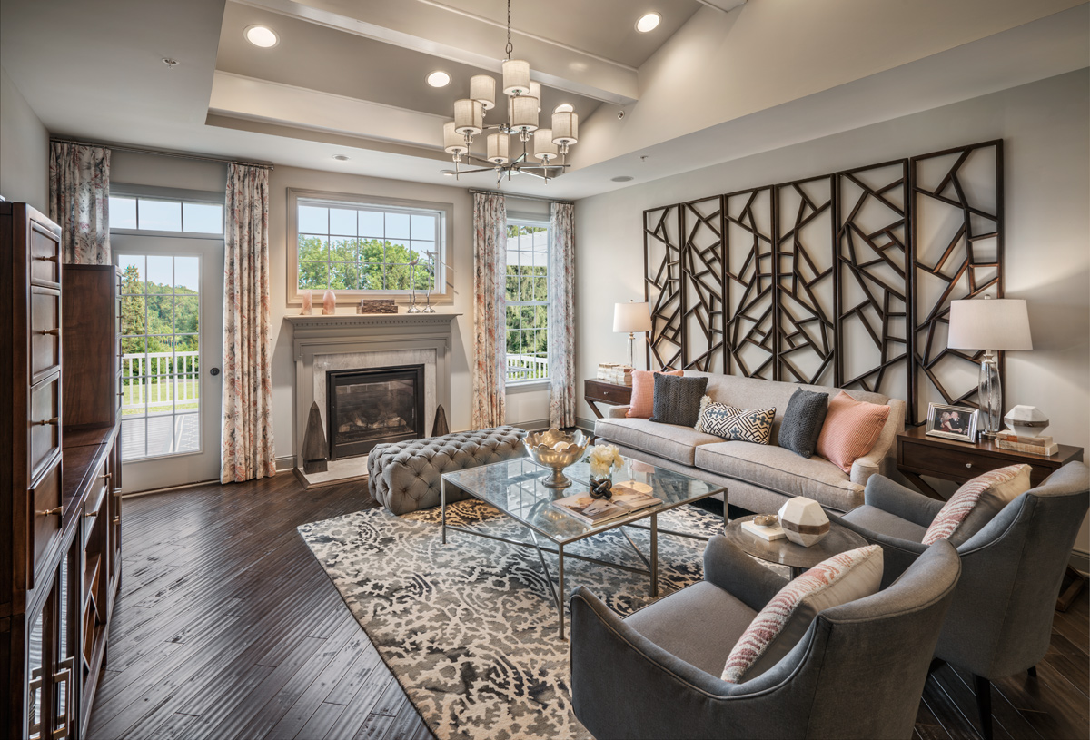 Inviting great room with gas fireplace