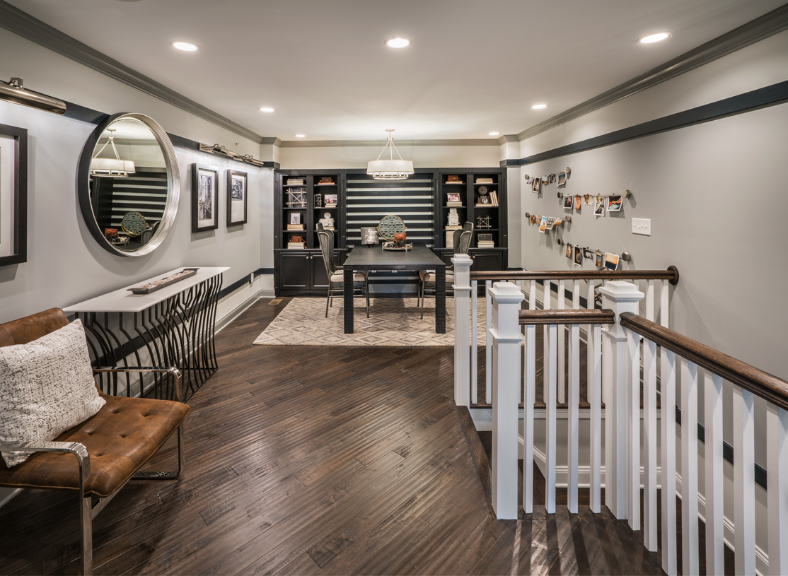 Second-floor loft provides additional living space