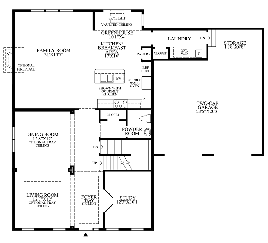 Expanded Family Room & Greenhouse Floor Plan