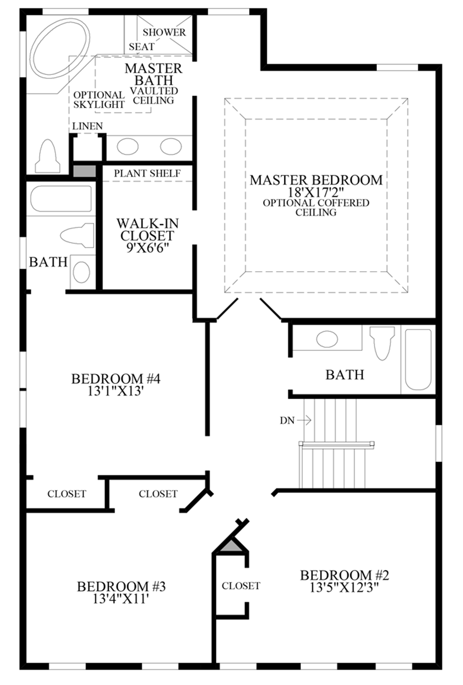 Additional Bath and Expanded Family Room - 2nd Floor Floor Plan