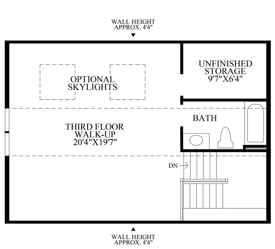 Loft with Bath Floor Plan