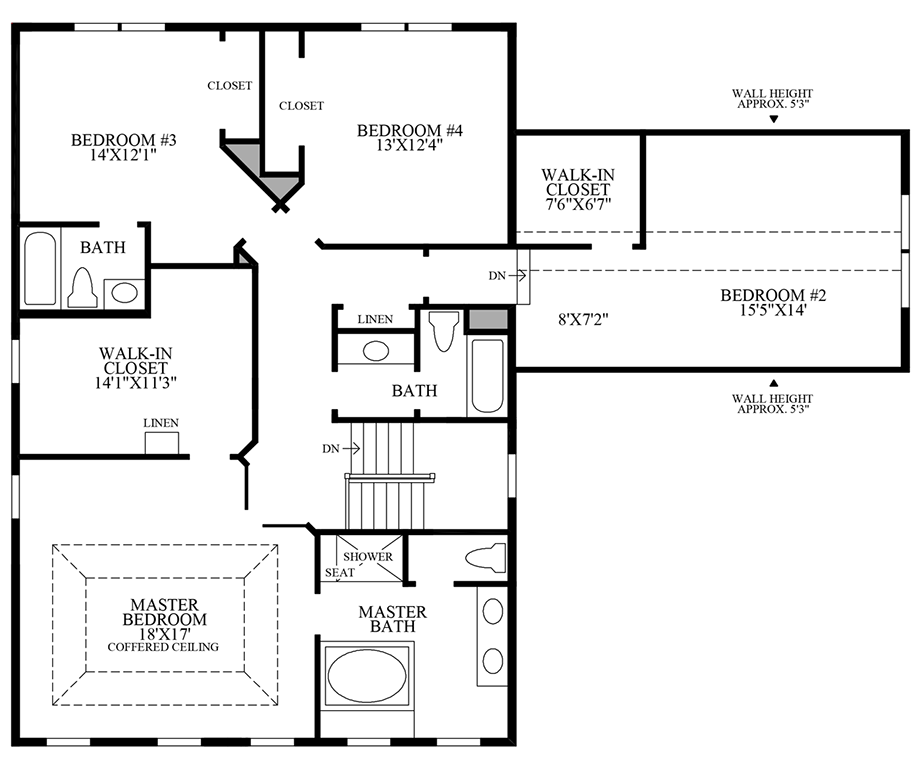 Additional Bath with Alternate 2nd Floor Floor Plan