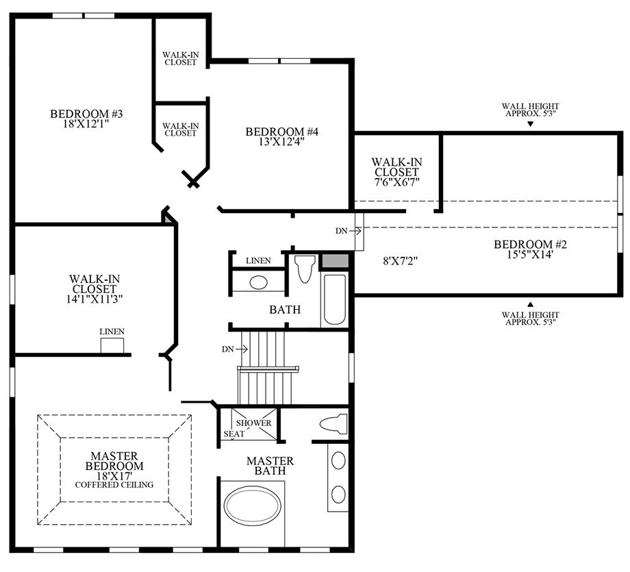 Alternate 2nd Floor Floor Plan