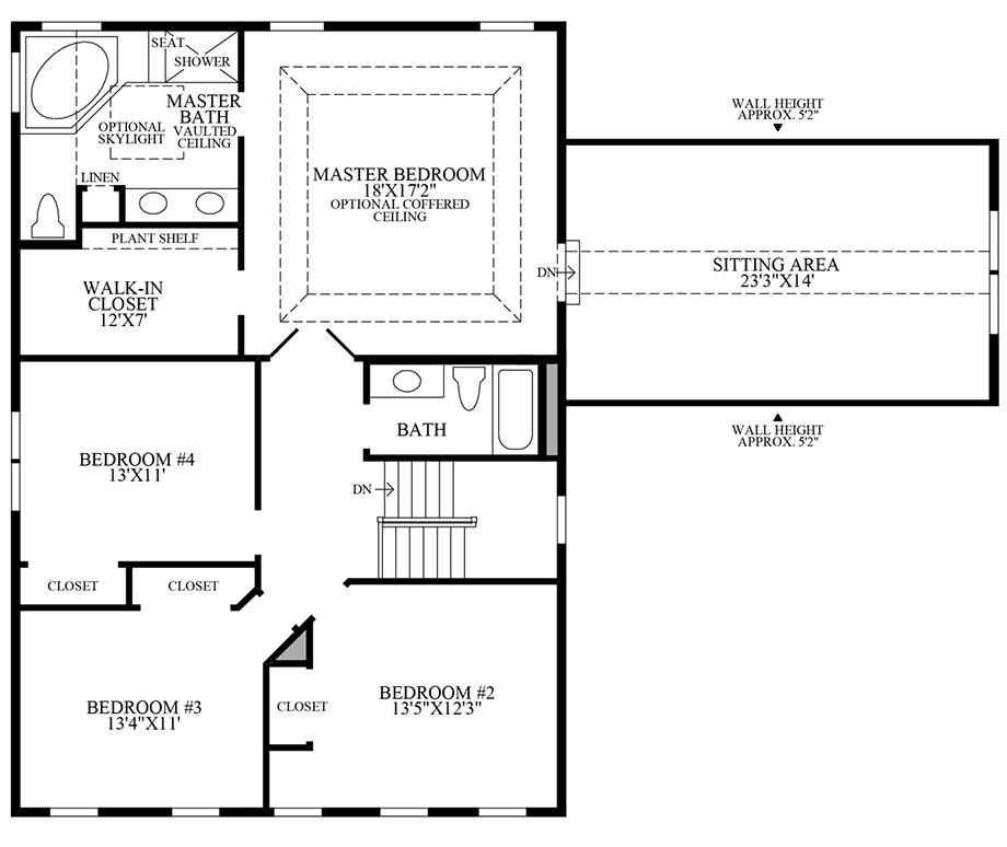 Grand Master Suite Floor Plan