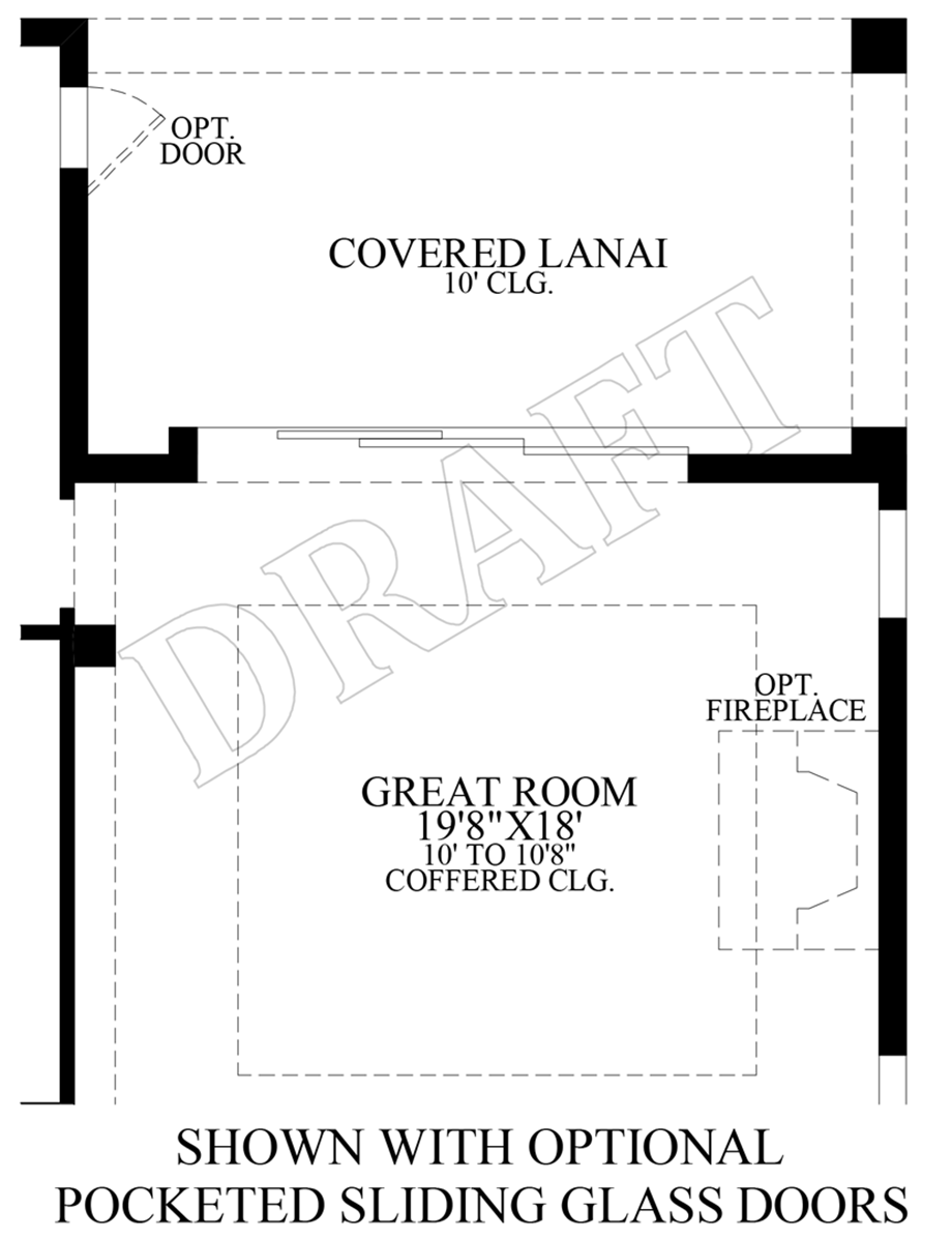 Optional Pocket Sliding Glass Door Floor Plan