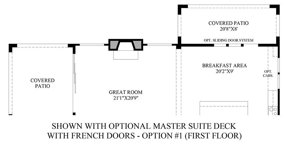 Optional Master Suite Deck (1st Floor) Floor Plan