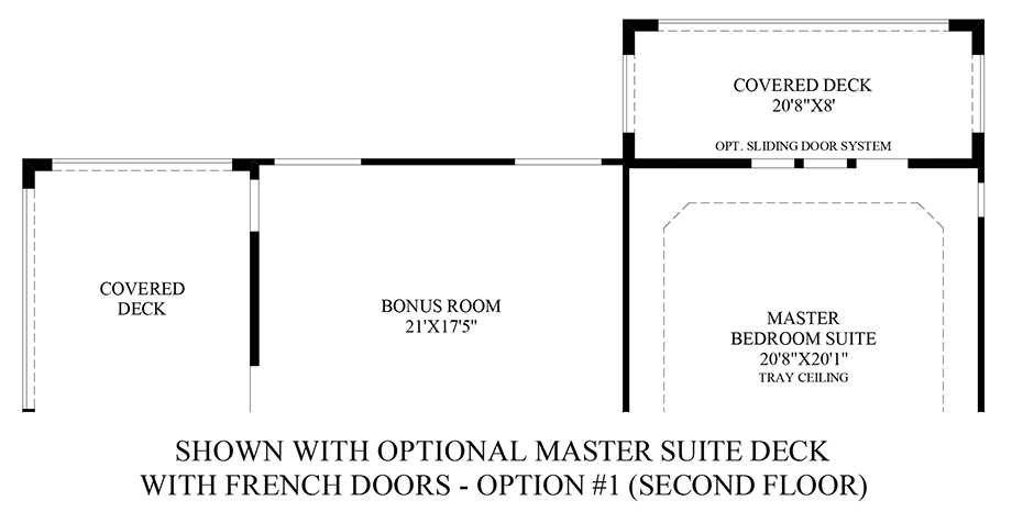 Optional Master Suite Deck (2nd Floor) Floor Plan