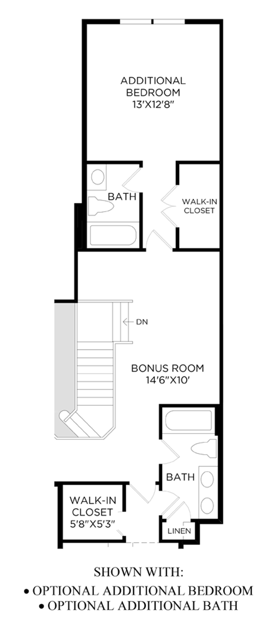 Optional Additional Bedroom & Additional Bath Floor Plan
