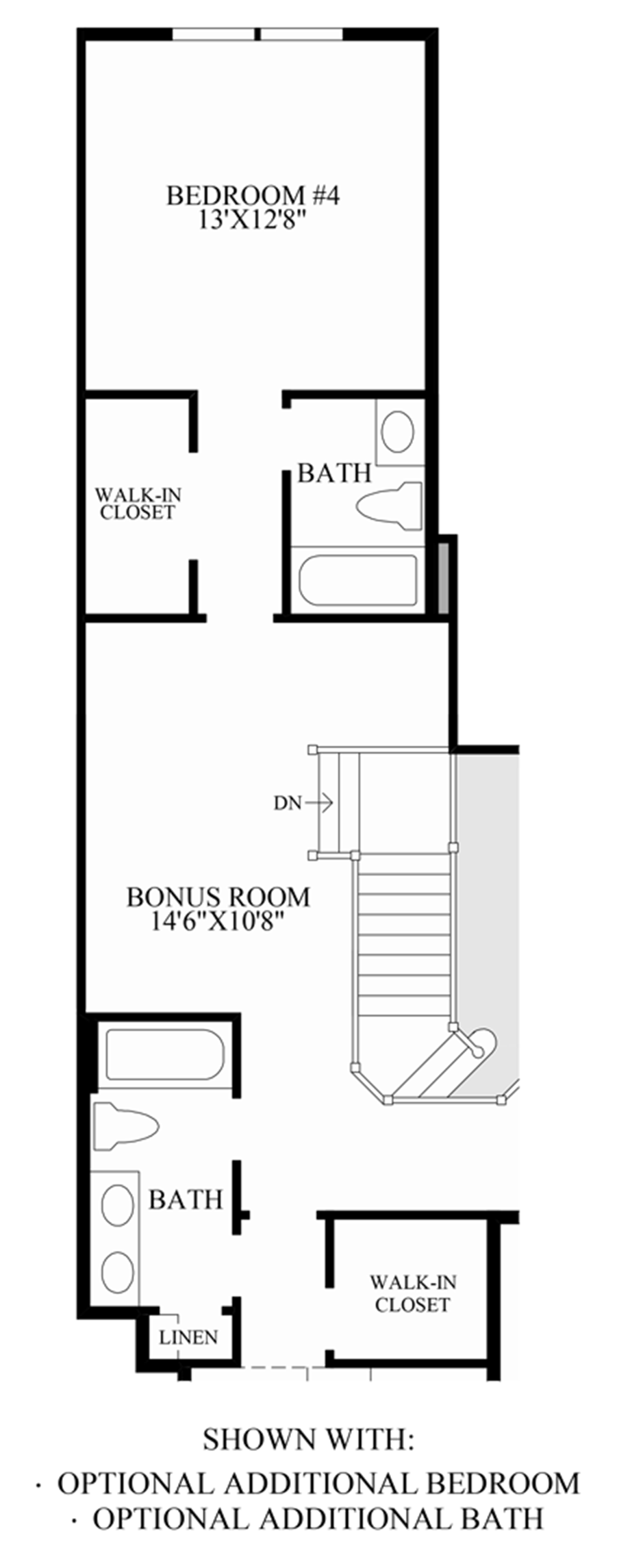 Optional Additional Bedroom/Bath Floor Plan