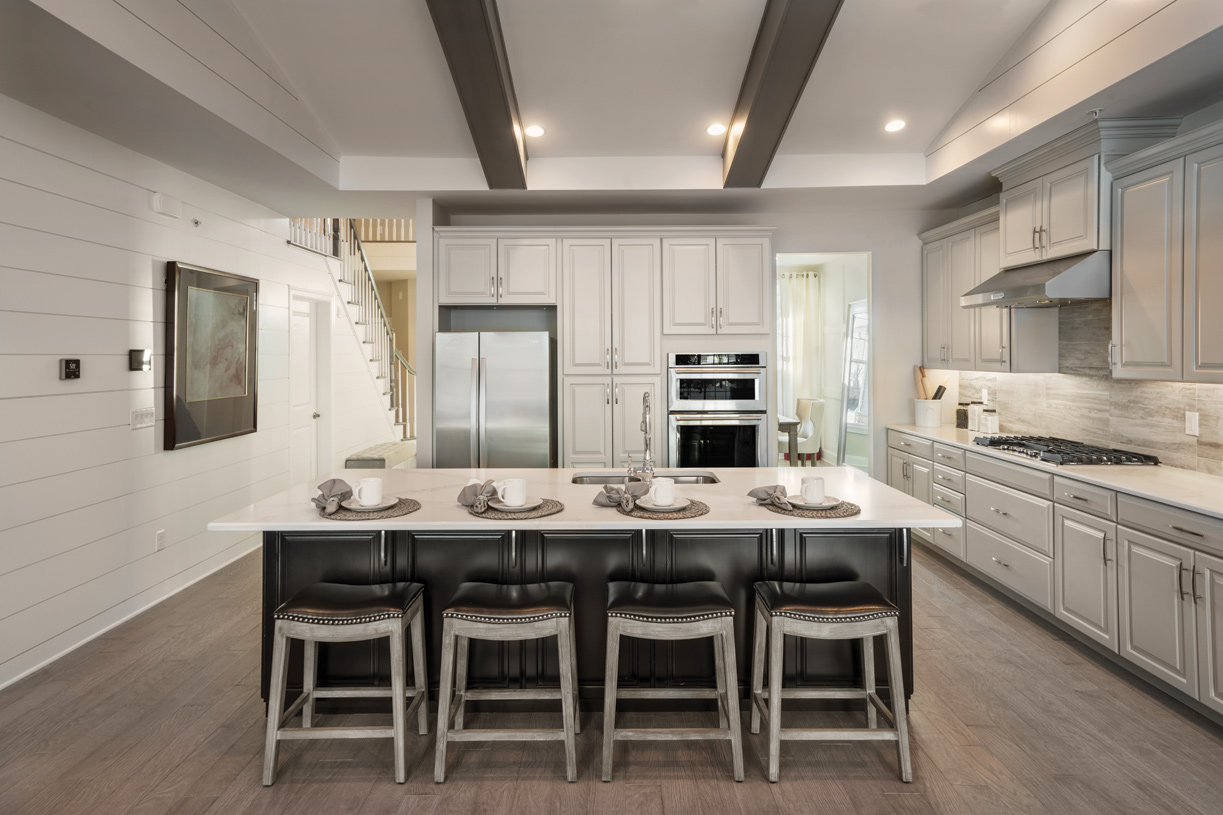 Well-appointed kitchen with center island and ample cabinets