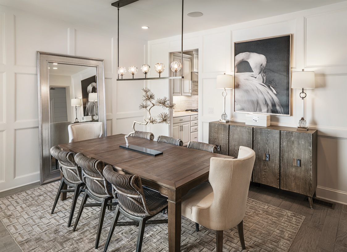 Formal dining room is perfect for entertaining