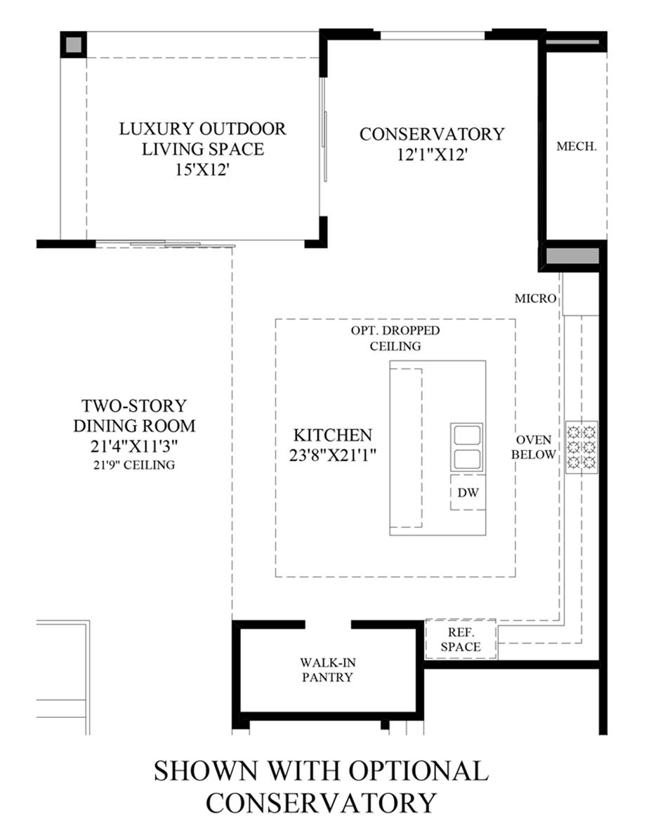Optional Conservatory Floor Plan