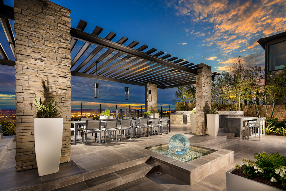 Westcliffe at porter ranch cascades collection the for Luxury outdoor living