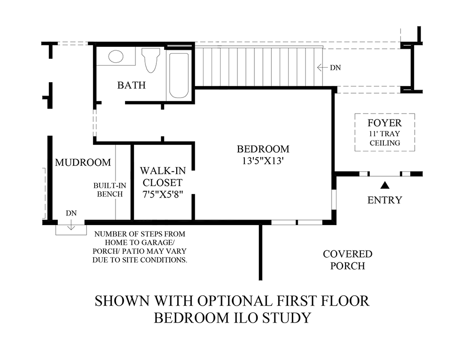 Optional First Floor Bedroom ILO Study Floor Plan