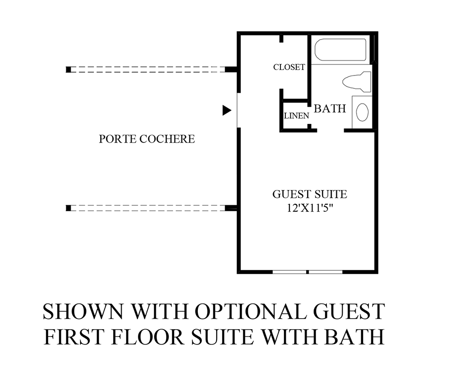 Optional Guest 1st Floor Suite Floor Plan