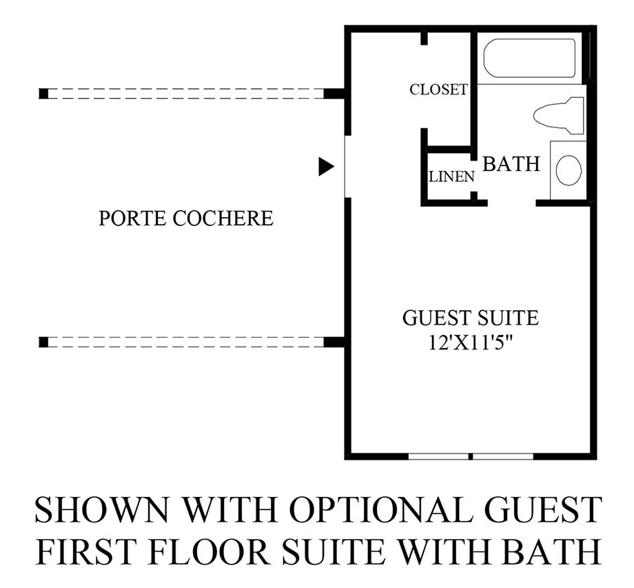 Optional Guest 1st Floor Suite with Bath Floor Plan