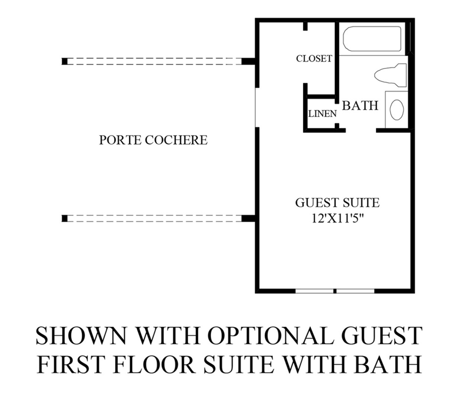 Optional 1st Floor Guest Suite With Bath Floor Plan