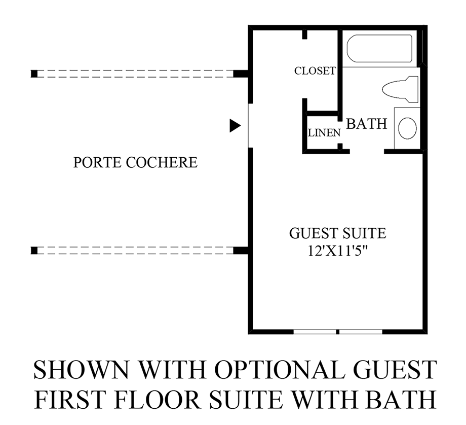 Optional Guest Suite w/ Bath (1st Floor) Floor Plan