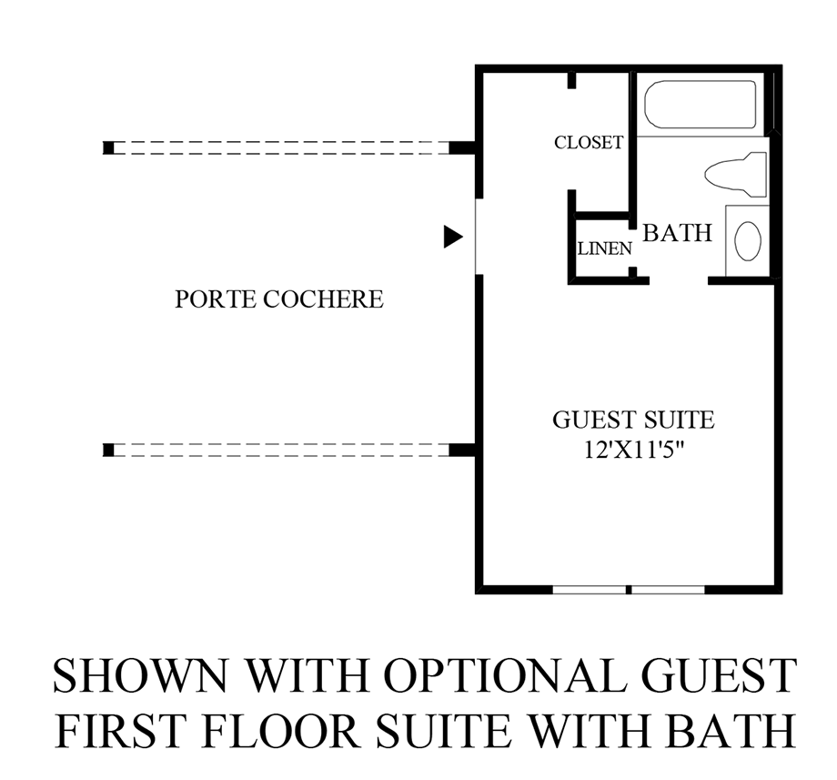 Optional Guest First Floor Suite w/ Bath Floor Plan