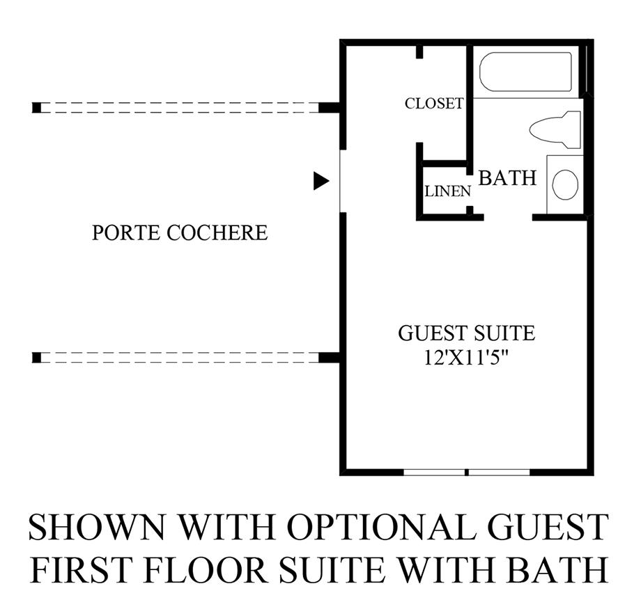 Optional Guest 1st Floor Suite w/ Bath Floor Plan