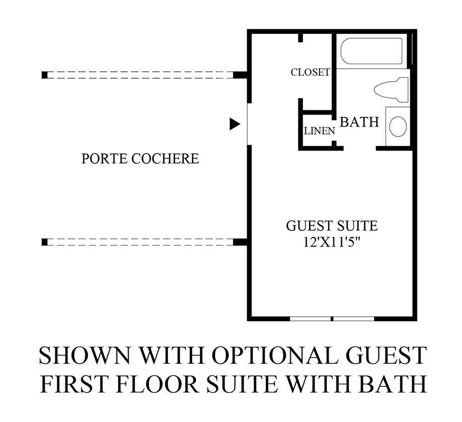 Optional Guest 1st Floor Suite w/ Bath Floor Plan