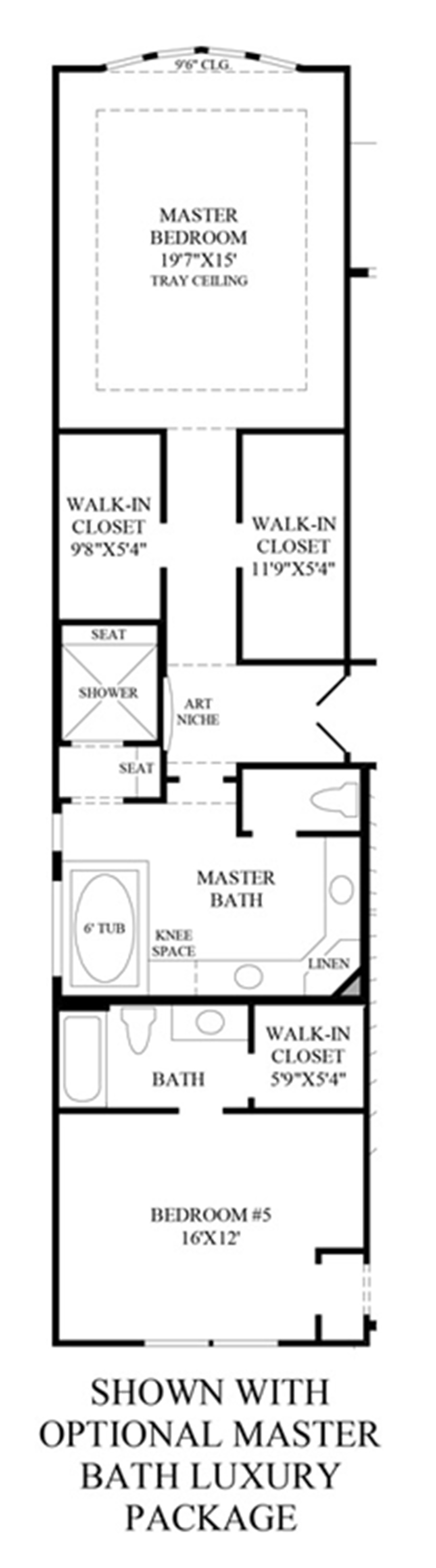 Optional Master Bath Luxury Package Floor Plan
