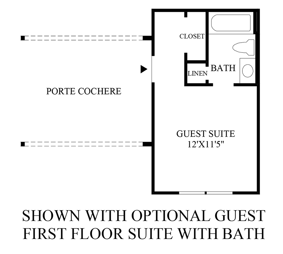 Optional Guest First Floor Suite with Bath Floor Plan
