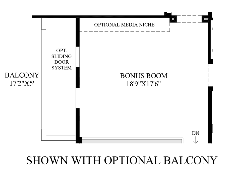 Optional Balcony Floor Plan