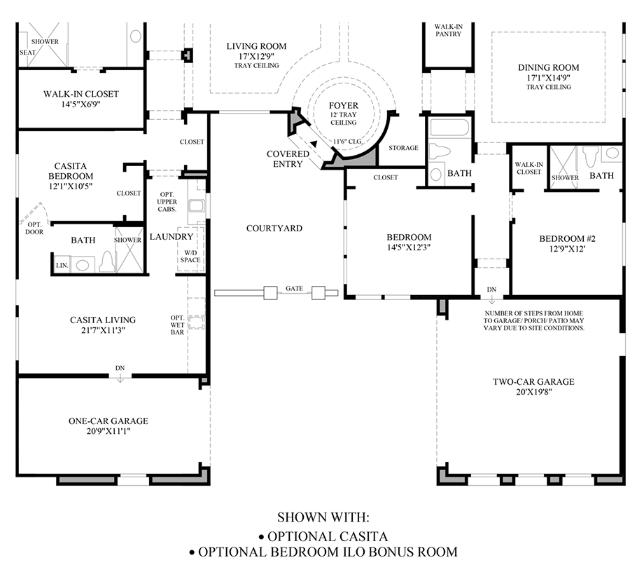Optional Casita/Optional Bedroom ILO Bonus Room Floor Plan