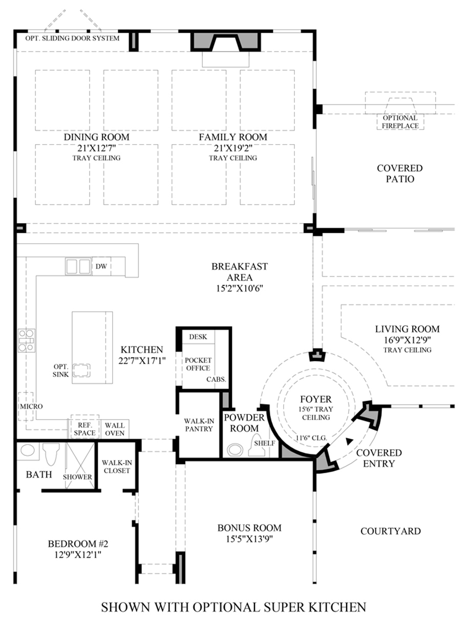 Optional Super Kitchen Floor Plan