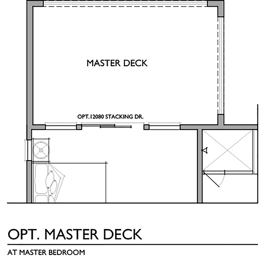 Optional Master Deck Floor Plan