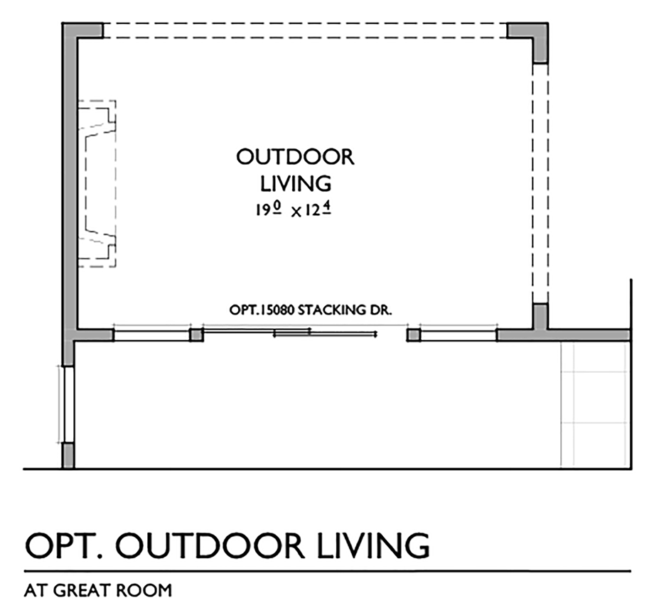 Optional Outdoor Living Floor Plan