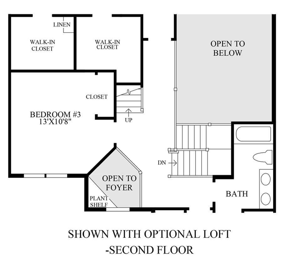 Optional Loft - 2nd Floor Floor Plan