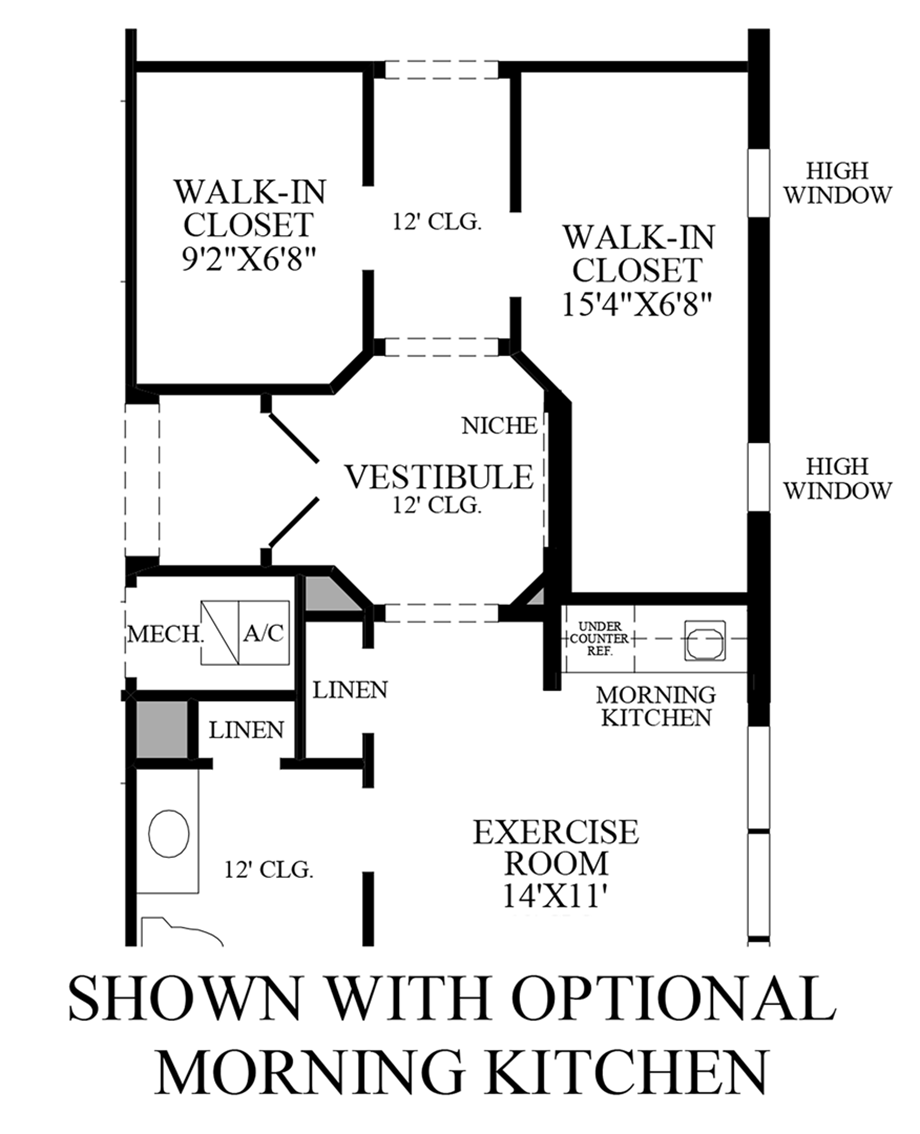 Optional Morning Kitchen Floor Plan